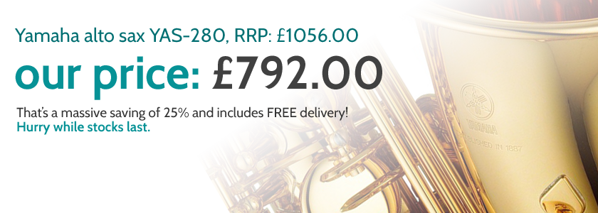Yamaha alto sax YAS-280 - Music World Price: £792!