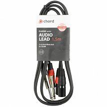 Chord Classic Audio Leads 2 x 6.3mm Mono Jack Plugs – 2 x XLR Male (1.5m)