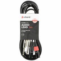 Chord Classic Audio Leads 2 x 6.3mm Mono Jack Plugs – 2 x XLR Male (3m)