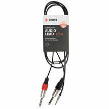 Chord Classic Audio Leads 3.5mm Stereo Jack Plug – 2 x 6.3mm Mono Jack Plugs (1.5m)