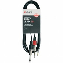 Chord Classic Audio Leads 3.5mm Stereo Jack Plug – 2 x 6.3mm Mono Jack Plugs (3m)