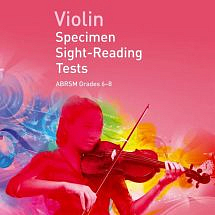 ABRSM Violin Specimen Sight-Reading Tests Grades 6-8