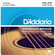 D'Addario Phosphor Bronze Acoustic 12 String Guitar strings