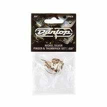 Dunlop Nickel Silver 33P.020 Finger and Thumb Pick Set