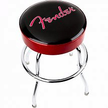 Fender Red Sparkle chrome bar guitar stool 24 inch