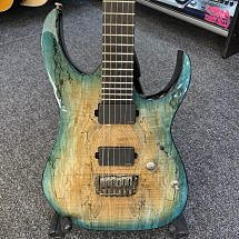 Ibanez RGIX20FESM Spalted Maple Top Foggy Stained Blue (Pre-Owned)