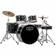 "Mapex Tornado III 22"" Rock Fusion Drum Kit, Black"