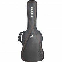 Ritter Performance RGP2-D Dreadnought Guitar Gig Bag, Black Red