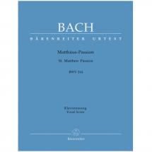 Bach: St Matthew Passion BWV 244: SATB