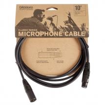D'Addario Classic Series XLR (M) to XLR (F) Microphone Cable 10ft