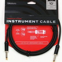 D'Addario Planet Waves American Stage Instrument Cable 10 ft
