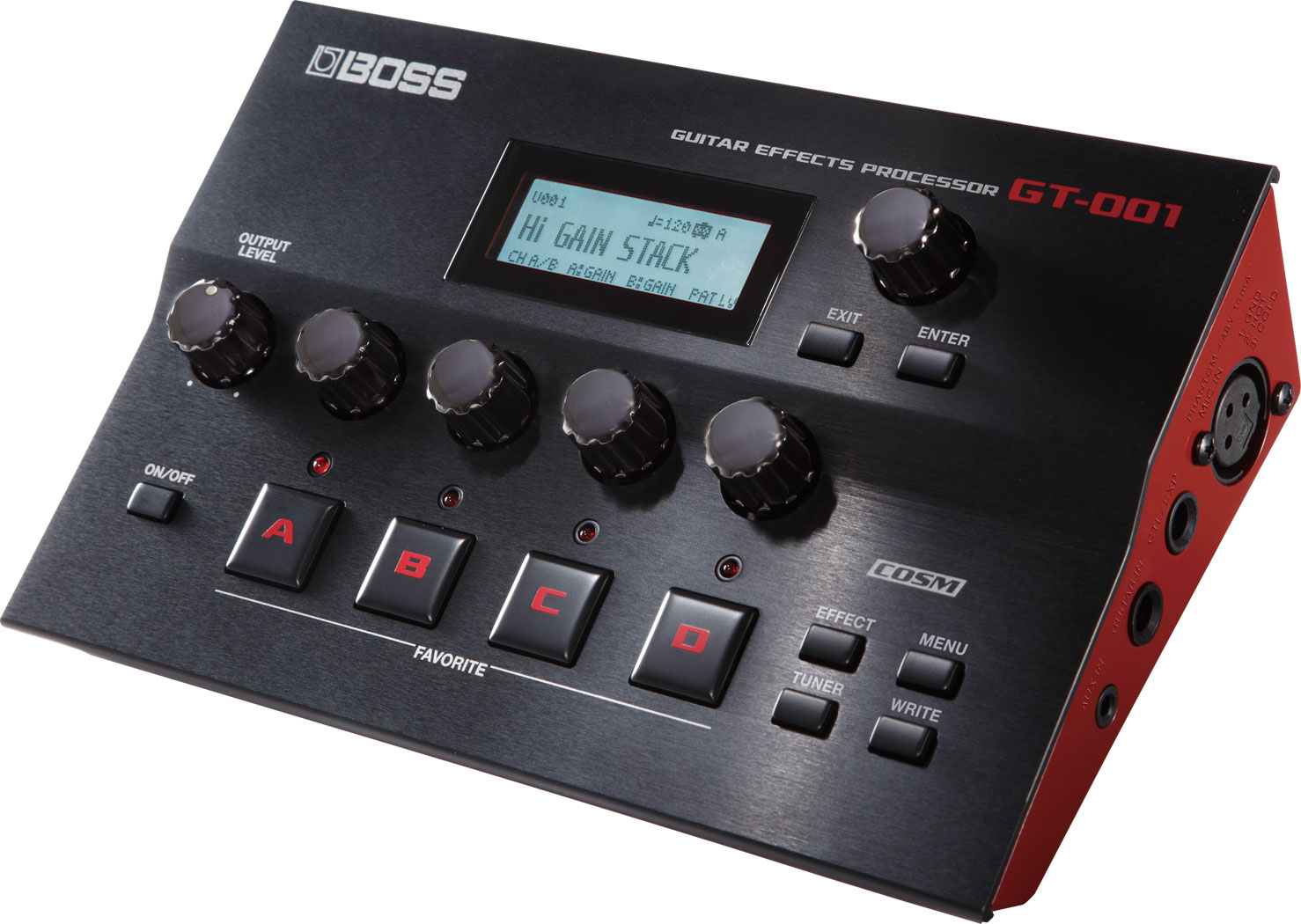 boss gt 001 desktop guitar multi fx processor audio interface music world. Black Bedroom Furniture Sets. Home Design Ideas