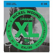 D'Addario EXL130 Nickel Wound, Extra-Super Light Electric Guitar Strings, 08-38