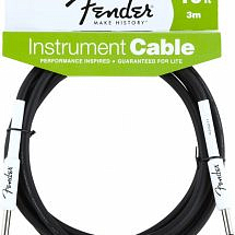 Fender Performance Series 10 ft/3m Jack to Jack Instrument Cable, Black