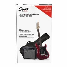 Squier Affinity Electric Guitar Pack with Candy Apple Red Stratocaster & 15 watt Fender Amp