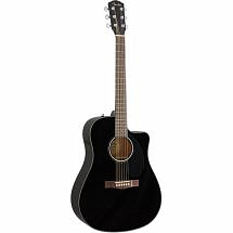 Fender CD60SCE Electro Acoustic Dreadnought Guitar Black