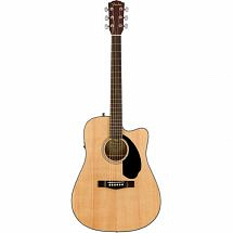 Fender CD60SCE Dreadnought Electro Acoustic Guitar Natural