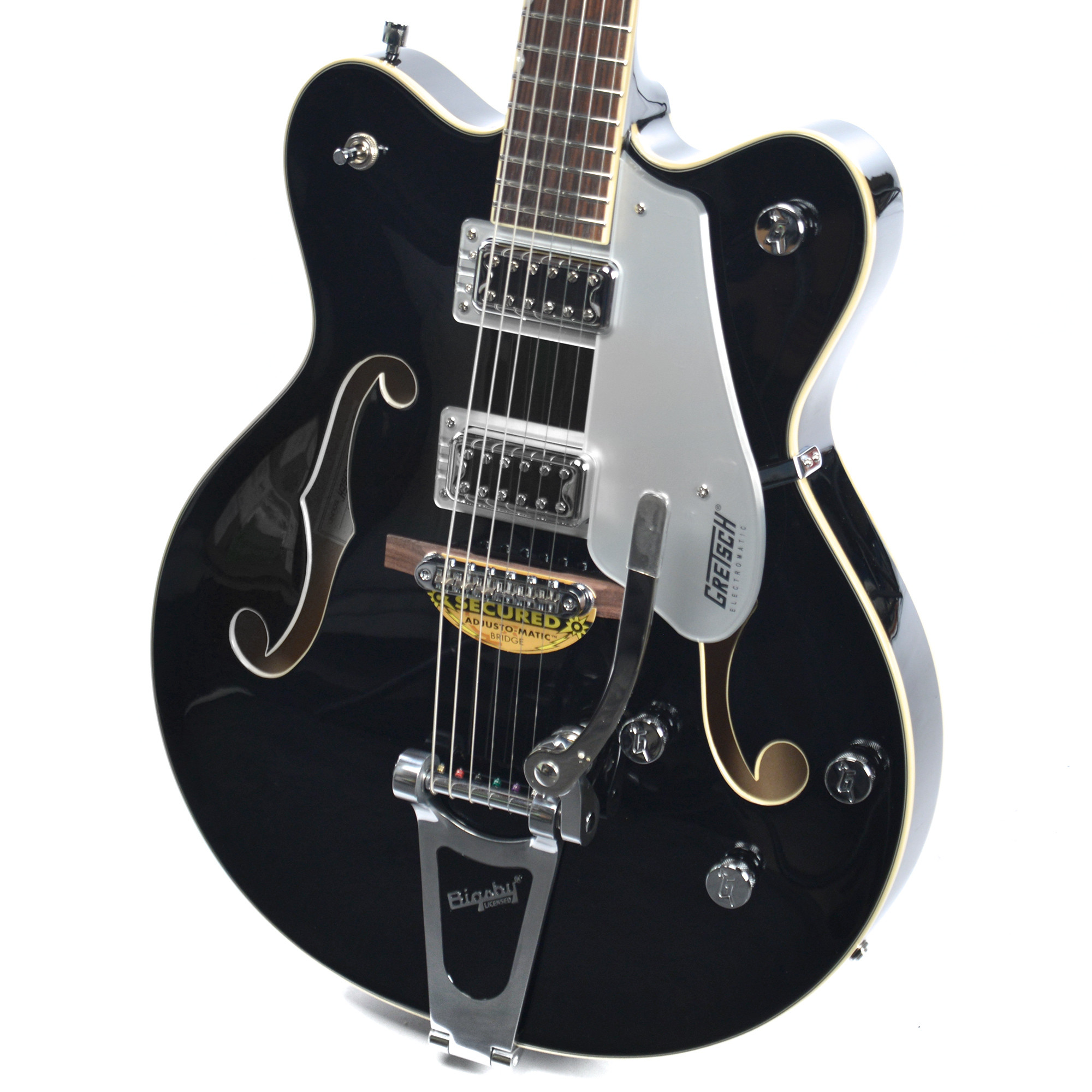 gretsch g5422t electromatic hollow body double cut with bigsby black music world. Black Bedroom Furniture Sets. Home Design Ideas