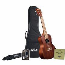 Kala KA-15C Satin Mahogany Concert Ukulele with Bag, Strap, Strings and Tuner