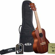 Kala KA-15T Satin Mahogany Tenor Ukulele with Bag, Strap, Strings and Tuner