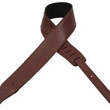 Levy's M26BL-DBR Brown Leather Guitar Strap