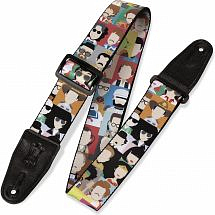 Levy's Leathers 2″ Sublimation Printed Guitar Strap with Leather Ends. Adjustable to 65″ (MPD2-104)