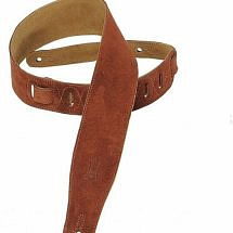 Levy MS26BRN Brown Suede Guitar Strap