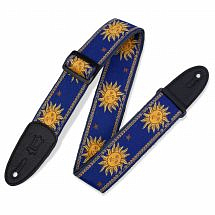 Levy's Jacquard Sun Polyester Guitar Strap, Blue