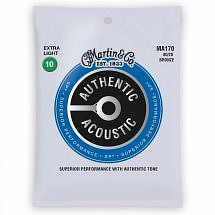 Martin Authentic Acoustic Superior Performance 80/20 Bronze Guitar Strings