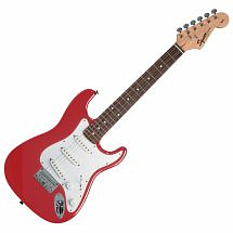 Squier by Fender Mini Stratocaster Electric Guitar v2 (Torino Red)
