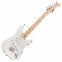 Squier FSR Mini Strat MN Electric Guitar, Olympic White