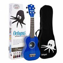 Octopus Coloured Ukulele with Case (Blue)