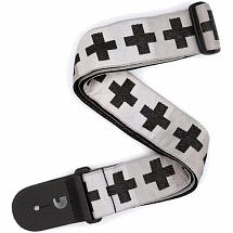 Planet Waves Woven Guitar Strap, Checkered Crosses