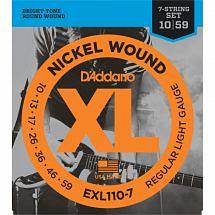 D'Addario EXL110-7 7 String Electric Guitar String Set, Regular Light