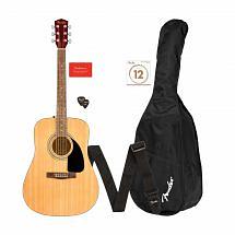 Fender FA-115 Dreadnought Acoustic Guitar Pack, Natural