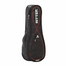 Ritter Performance RGP2 Ukulele Soprano Gig Bag (Black/Red)