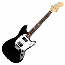 Squier by Fender Bullet Mustang HH Electric Guitar, Black