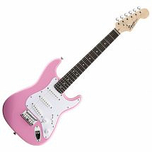 Squier by Fender Mini Stratocaster electric guitar (Pink)