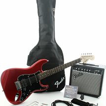 Squier by Fender Electric Guitar Pack with Candy Red Stratocaster & 15 watt Fender Amp