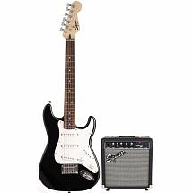 Fender Squier Short Scale Stratocaster Pack SSS in Black