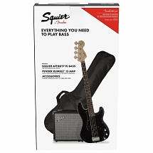 Squier Affinity Series Precision Bass PJ Pack, Black