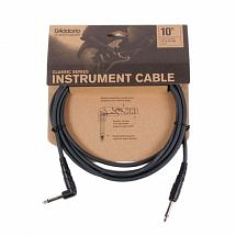 D'Addario Classic Series 1/4″ Right angle Instrument Cable, 10ft
