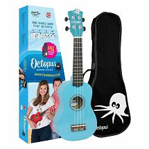 Octopus Coloured Ukulele with Case (Sky Blue)