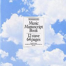 Woodstock Music Manuscript Book 12 Stave 64 Pages Stitched